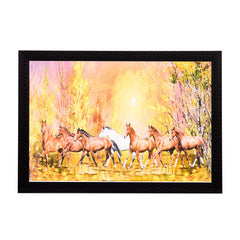 ecraftindia-brown-horses-satin-matt-texture-uv-art-painting_1