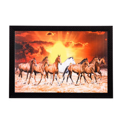 ecraftindia-brown-white-horses-satin-matt-texture-uv-art-painting_1
