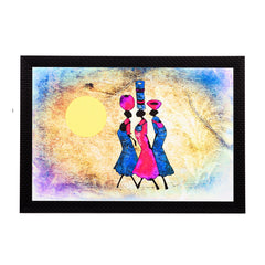 ecraftindia-tribal-women-abstract-satin-matt-texture-uv-art-painting_1