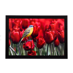 ecraftindia-bird-resting-on-flower-satin-matt-texture-uv-art-painting_1