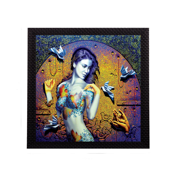 ecraftindia-artistic-lady-satin-matt-texture-uv-art-painting_1