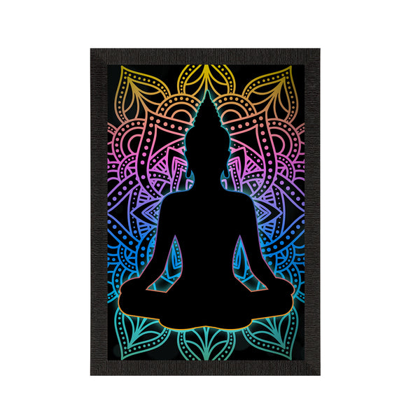 eCraftIndia Meditating Lord Buddha Satin Matt Texture UV Art Painting