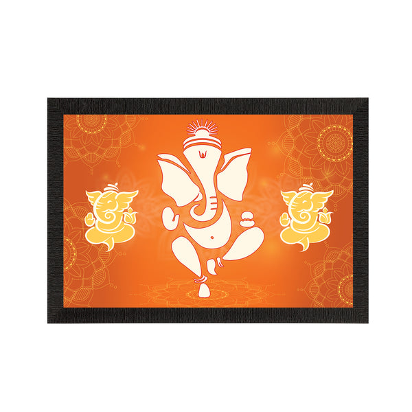 eCraftIndia Lord Ganesha Satin Matt Texture UV Art Painting