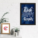 "ecraftindia-""think-happy-thoughts""-motivational-quote-satin-matt-texture-uv-art-painting_2"