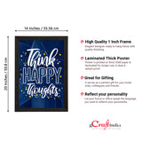 "ecraftindia-""think-happy-thoughts""-motivational-quote-satin-matt-texture-uv-art-painting_4"