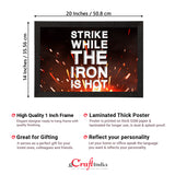 "ecraftindia-""strike-while-the-iron-is-hot""-motivational-quote-satin-matt-texture-uv-art-painting_4"