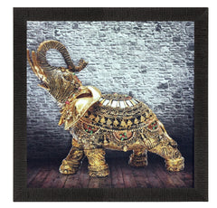 ecraftindia-jewelled-elephant-design-satin-matt-texture-uv-art-painting_1