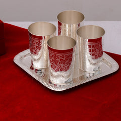 ecraftindia-german-silver-4-glass-set-with-velvet-box_2