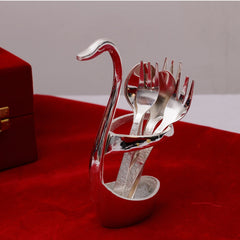 ecraftindia-german-silver-swan-spoon-holder-with-velvet-box_1