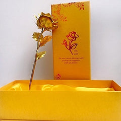 eCraftIndia 24K Gold Rose with Gift Box and Carry Bag