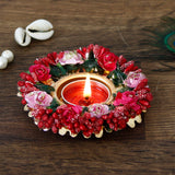ecraftindia-decorative-handcrafted-red-and-pink-floral-tea-light-holder_2