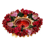 ecraftindia-decorative-handcrafted-red-and-pink-floral-tea-light-holder_3