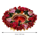 ecraftindia-decorative-handcrafted-red-and-pink-floral-tea-light-holder_4