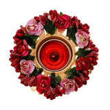 ecraftindia-decorative-handcrafted-red-and-pink-floral-tea-light-holder_5