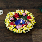 ecraftindia-decorative-handcrafted-yellow-floral-tea-light-holder_2