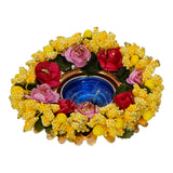 ecraftindia-decorative-handcrafted-yellow-floral-tea-light-holder_3