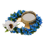 ecraftindia-decorative-handcrafted-blue-floral-leaf-shape-tea-light-holder_5