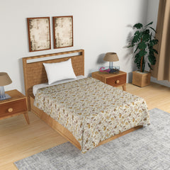 ecraftindia-yellow-and-brown-birds-&-floral-print-single-bed-reversible-ac-cotton-dohar_1