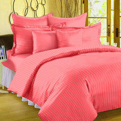 ecraftindia-210-tc-premium-luxury-cotton-satin-striped-double-bed-king-size-bedsheet-(100-in-x-108-in)-with-2-pillow-cover-peach_1