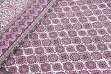 eCraftIndia 144 TC Pure Cotton Premium Ethnic Jaipuri Print Double Bed Bedsheet (90 In x 108 In) with 2 pillow cover - Pink