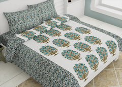 ecraftindia-144-tc-pure-cotton-premium-floral-print-double-bed-bedsheet-(90-in-x-108-in)-with-2-pillow-cover-green_1