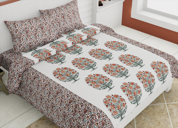 ecraftindia-144-tc-pure-cotton-premium-floral-print-double-bed-bedsheet-(90-in-x-108-in)-with-2-pillow-cover-orange_1