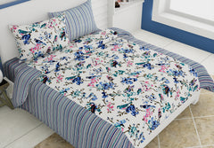 ecraftindia-144-tc-pure-cotton-premium-floral-and-bird-print-double-bed-bedsheet-(90-in-x-108-in)-with-2-pillow-cover-blue_1