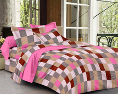 ecraftindia-144-tc-pure-cotton-checkered-print-double-bed-bedsheet-(90-in-x-108-in)-with-2-pillow-cover-pink_1