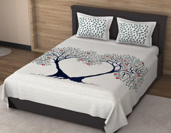 ecraftindia-180-tc-pure-cotton-premium-double-bed-king-size-heart-formation-by-apple-trees-design-bedsheet-(100-in-x-108-in)-with-2-pillow-cover-green-and-blue_1