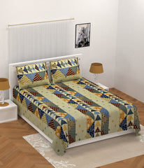 ecraftindia-210-tc-premium-luxury-cotton-kantha-patchwork-double-bed-king-size-bedsheet-(100-in-x-108-in)-with-2-pillow-cover-beige_1