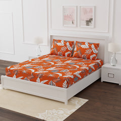 ecraftindia-250-tc-pure-cotton-floral-print-premium-double-bed-bedsheet-(100-in-x-108-in)-with-2-pillow-cover-orange_1