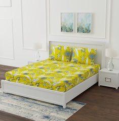 ecraftindia-250-tc-pure-cotton-floral-print-premium-double-bed-bedsheet-(100-in-x-108-in)-with-2-pillow-cover-yellow_1