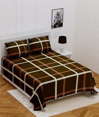 ecraftindia-140-tc-glace-cotton-double-bed-geometric-brown-design-bedsheet-(90-in-x-100-in)-with-2-pillow-cover_1