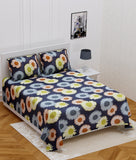 ecraftindia-140-tc-glace-cotton-double-bed-multicolor-sunflowers-design-bedsheet-(90-in-x-100-in)-with-2-pillow-cover_1