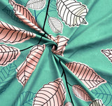 ecraftindia-140-tc-glace-cotton-double-bed-green-and-pink-leafs-design-bedsheet-(90-in-x-100-in)-with-2-pillow-cover_4