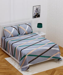 ecraftindia-140-tc-glace-cotton-double-bed-grey-geometric-design-bedsheet-(90-in-x-100-in)-with-2-pillow-cover_1