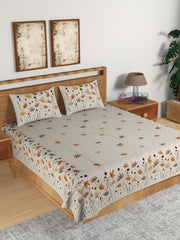 ecraftindia-180-tc-pure-cotton-premium-double-bed-king-size-floral-design-bedsheet-(100-in-x-108-in)-with-2-pillow-cover-orange_1