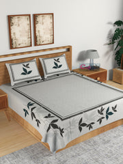 ecraftindia-180-tc-pure-cotton-premium-double-bed-king-size-floral-design-bedsheet-(100-in-x-108-in)-with-2-pillow-cover-black_1