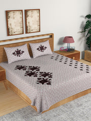 ecraftindia-180-tc-pure-cotton-premium-double-bed-king-size-floral-design-bedsheet-(100-in-x-108-in)-with-2-pillow-cover-brown_1