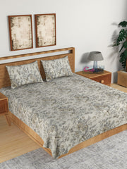 ecraftindia-210-tc-pure-cotton-premium-double-bed-king-size-floral-design-bedsheet-(100-in-x-108-in)-with-2-pillow-cover-grey_1