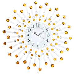 "ICWC_117_Sweep_YLW-eCraftIndia-White-Dial-Round-Yellow-Diamond-Wall-Clock-(24""-x-24""-Inch-