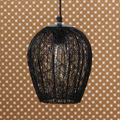 ILAMP_CL01-eCraftIndia-Black-Wire-Mesh-Pendant-Light,-Ceiling-Hanging-Lamp-for-Home/Living-Room/Offices/Restaurants_1
