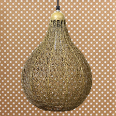 ILAMP_CL06-eCraftIndia-Golden-Finish-Wire-Mesh-in-Bulb-Shape-Pendant-Light,-Ceiling-Hanging-Lamp-for-Home/Living-Room/Offices/Restaurants_1