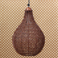 ILAMP_CL07-eCraftIndia-Copper-Finish-Wire-Mesh-in-Bulb-Shape-Pendant-Light,-Ceiling-Hanging-Lamp-for-Home/Living-Room/Offices/Restaurants_1