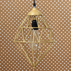 ILAMP_CL15-eCraftIndia-Edison-Filament-Golden-Finish-Diamond-Cage-Pendant-Light,-Ceiling-Hanging-Lamp-for-Home/Living-Room/Offices/Restaurants_1