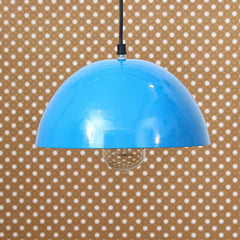 "ILAMP_CLS16-eCraftIndia-Shining-Sky-Blue-Glossy-Finish-Pendant-Light,-10""-Diameter-Ceiling-Hanging-Lamp-for-Home/Living-Room/Offices/Restaurants_1"