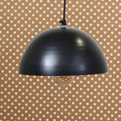 "ILAMP_CLS1-eCraftIndia-Shining-Black-Glossy-Finish-Pendant-Light,-10""-Diameter-Ceiling-Hanging-Lamp-for-Home/Living-Room/Offices/Restaurants_1"