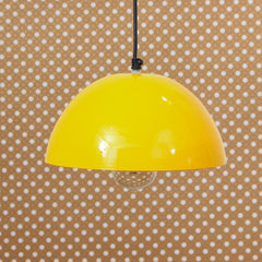 "ILAMP_CLS7-eCraftIndia-Shining-Yellow-Glossy-Finish-Pendant-Light,-10""-Diameter-Ceiling-Hanging-Lamp-for-Home/Living-Room/Offices/Restaurants_1"