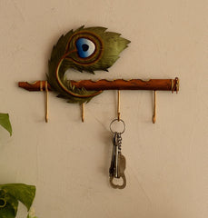 ecraftindia-wrought-iron-mor-pankh-key-holder_1