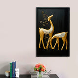ecraftindia-golden-deer-with-wooden-frame-handcrafted-wall-hanging_2